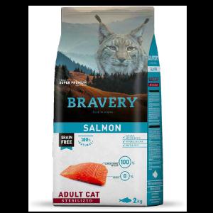 Bravery crocchette per gatti sterilizzati salmone