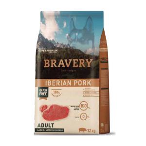 Crocchette cane adulto Bravery Iberian Pork